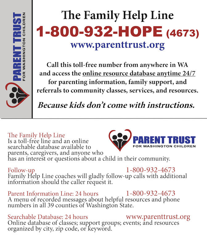 Telephone Support & Resources - Parent Trust for Washington